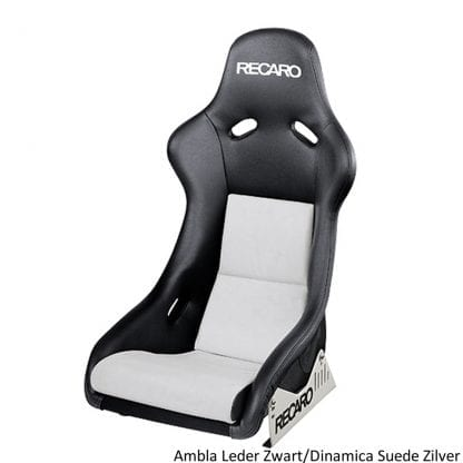 Recaro Pole Position Ambla Leather Black Dinamica Suede Silver