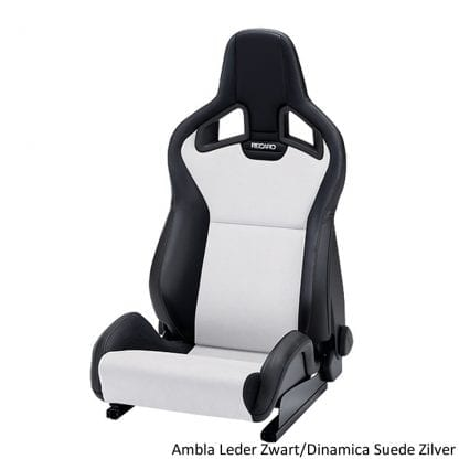 Recaro Sportster CS - Ambla Leather Black Dinamica Suede Silver